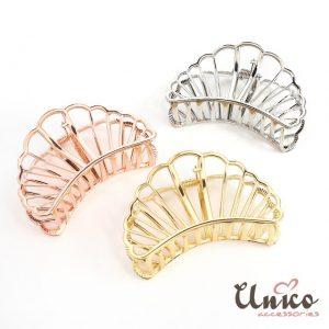扇貝造型質感金屬大號盤髮夾/髮飾