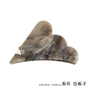 大理石紋雲朵金屬吊牌髮夾