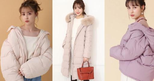 粉色羽絨衣